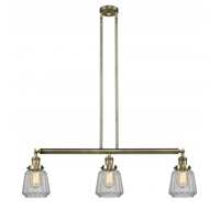 Innovations Lighting 213-AB-G142-LED Chatham LED 39 inch Antique Brass Island Light Ceiling Light Franklin Restoration