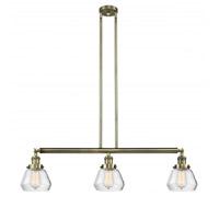 Innovations Lighting 213-AB-G172-LED Fulton LED 39 inch Antique Brass Island Light Ceiling Light Franklin Restoration