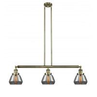 Innovations Lighting 213-AB-G173-LED Fulton LED 39 inch Antique Brass Island Light Ceiling Light Franklin Restoration