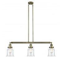 Innovations Lighting 213-AB-G182 Canton 3 Light 39 inch Antique Brass Island Light Ceiling Light, Franklin Restoration