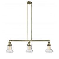 Innovations Lighting 213-AB-G194 Bellmont 3 Light 39 inch Antique Brass Island Light Ceiling Light, Franklin Restoration