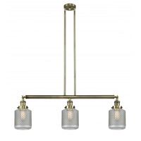 Innovations Lighting 213-AB-G262 Stanton 3 Light 39 inch Antique Brass Island Light Ceiling Light Franklin Restoration