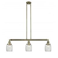 Innovations Lighting 213-AB-G302 Colton 3 Light 38 inch Antique Brass Island Light Ceiling Light, Franklin Restoration