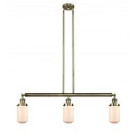 Innovations Lighting 213-AB-G311 Dover 3 Light 37 inch Antique Brass Island Light Ceiling Light Franklin Restoration