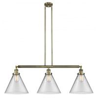 Innovations Lighting 213-AB-G42-L-LED X-Large Cone LED 44 inch Antique Brass Island Light Ceiling Light Franklin Restoration
