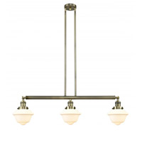 Innovations Lighting 213-AB-G531-LED Small Oxford LED 40 inch Antique Brass Island Light Ceiling Light, Franklin Restoration