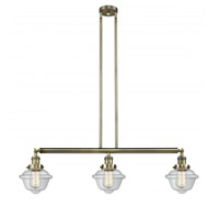 Innovations Lighting 213-AB-G532-LED Small Oxford LED 40 inch Antique Brass Island Light Ceiling Light, Franklin Restoration