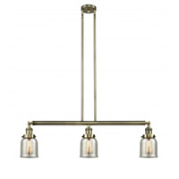 Innovations Lighting 213-AB-G58-LED Small Bell LED 38 inch Antique Brass Island Light Ceiling Light, Franklin Restoration