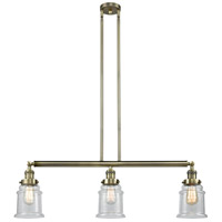 Canton LED 39 inch Antique Brass Island Light Ceiling Light, Adjustable