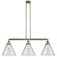 Innovations Lighting 213-AB-S-G42-L-LED X-Large Cone LED 44 inch Antique Brass Island Light Ceiling Light Franklin Restoration