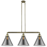 Innovations Lighting 213-AB-S-G43-L-LED X-Large Cone LED 44 inch Antique Brass Island Light Ceiling Light Franklin Restoration