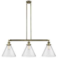 Innovations Lighting 213-AB-S-G44-L-LED X-Large Cone LED 44 inch Antique Brass Island Light Ceiling Light Franklin Restoration