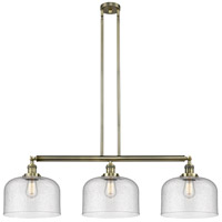 Innovations Lighting 213-AB-S-G74-L-LED X-Large Bell LED 42 inch Antique Brass Island Light Ceiling Light Franklin Restoration