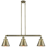 Innovations Lighting 213-AB-S-M13-AB-LED Appalachian LED 40 inch Antique Brass Island Light Ceiling Light Franklin Restoration