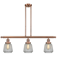 Chatham 3 Light 36 inch Antique Copper Island Light Ceiling Light