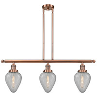 Geneseo 3 Light 36 inch Antique Copper Island Light Ceiling Light