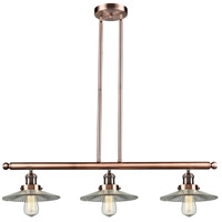 Innovations Lighting 213-AC-G2-LED Halophane LED 36 inch Antique Copper Island Light Ceiling Light
