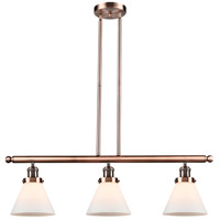 Innovations Lighting 213-AC-G41-LED Large Cone LED 36 inch Antique Copper Island Light Ceiling Light