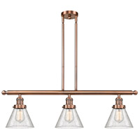 Innovations Lighting 213-AC-G44-LED Large Cone LED 36 inch Antique Copper Island Light Ceiling Light