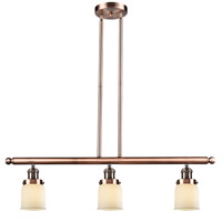 Innovations Lighting 213-AC-G51-LED Small Bell LED 36 inch Antique Copper Island Light Ceiling Light