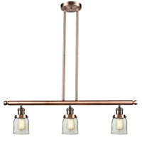 Signature 3 Light 36 inch Antique Copper Island Light Ceiling Light, Small, Bell