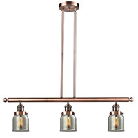 Innovations Lighting 213-AC-G53-LED Small Bell LED 36 inch Antique Copper Island Light Ceiling Light