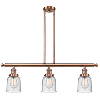 Innovations Lighting 213-AC-G54-LED Small Bell LED 36 inch Antique Copper Island Light Ceiling Light
