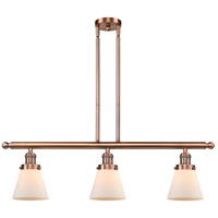 Innovations Lighting 213-AC-G61-LED Small Cone LED 36 inch Antique Copper Island Light Ceiling Light