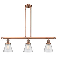 Innovations Lighting 213-AC-G64-LED Small Cone LED 36 inch Antique Copper Island Light Ceiling Light