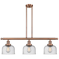Innovations Lighting 213-AC-G74-LED Large Bell LED 36 inch Antique Copper Island Light Ceiling Light