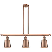 Innovations Lighting 213-AC-M9-AC-LED Addison LED 36 inch Antique Copper Island Light Ceiling Light