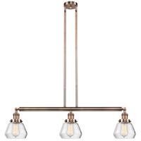 Innovations Lighting 213-AC-S-G172-LED Fulton LED 39 inch Antique Copper Island Light Ceiling Light Adjustable