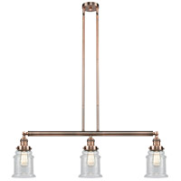 Innovations Lighting 213-AC-S-G184-LED Canton LED 39 inch Antique Copper Island Light Ceiling Light Adjustable