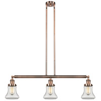 Innovations Lighting 213-AC-S-G192-LED Bellmont LED 39 inch Antique Copper Island Light Ceiling Light Franklin Restoration