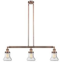 Innovations Lighting 213-AC-S-G194-LED Bellmont LED 39 inch Antique Copper Island Light Ceiling Light Franklin Restoration