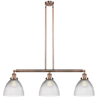 Innovations Lighting 213-AC-S-G222-LED Seneca Falls LED 39 inch Antique Copper Island Light Ceiling Light, Franklin Restoration photo thumbnail