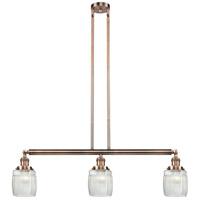 Innovations Lighting 213-AC-S-G302-LED Colton LED 38 inch Antique Copper Island Light Ceiling Light Adjustable