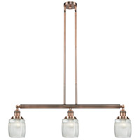 Innovations Lighting 213-AC-S-G302 Colton 3 Light 38 inch Antique Copper Island Light Ceiling Light Adjustable