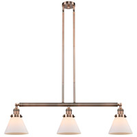 Innovations Lighting 213-AC-S-G41 Large Cone 3 Light 40 inch Antique Copper Island Light Ceiling Light Adjustable