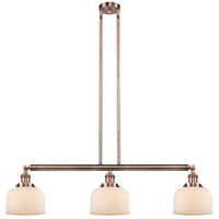 Innovations Lighting 213-AC-S-G71 Large Bell 3 Light 41 inch Antique Copper Island Light Ceiling Light Adjustable
