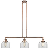 Innovations Lighting 213-AC-S-G72-LED Large Bell LED 41 inch Antique Copper Island Light Ceiling Light Adjustable