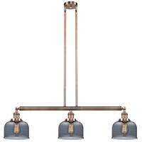 Innovations Lighting 213-AC-S-G73 Large Bell 3 Light 41 inch Antique Copper Island Light Ceiling Light Adjustable
