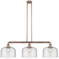 Innovations Lighting 213-AC-S-G74-L-LED X-Large Bell LED 42 inch Antique Copper Island Light Ceiling Light Franklin Restoration