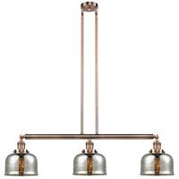 Innovations Lighting 213-AC-S-G78-LED Large Bell LED 41 inch Antique Copper Island Light Ceiling Light Adjustable