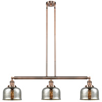 Innovations Lighting 213-AC-S-G78 Large Bell 3 Light 41 inch Antique Copper Island Light Ceiling Light Adjustable