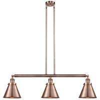 Innovations Lighting 213-AC-S-M13-AC-LED Appalachian LED 40 inch Antique Copper Island Light Ceiling Light Franklin Restoration