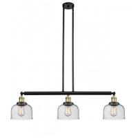 Innovations Lighting 213-BAB-G74-LED Large Bell LED 41 inch Black Antique Brass Island Light Ceiling Light Franklin Restoration