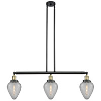 Innovations Lighting 213-BAB-S-G165 Geneseo 3 Light 38 inch Black Antique Brass Island Light Ceiling Light Franklin Restoration