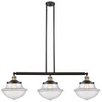 Innovations Lighting 213-BAB-S-G542-LED Large Oxford LED 42 inch Black Antique Brass Island Light Ceiling Light Franklin Restoration