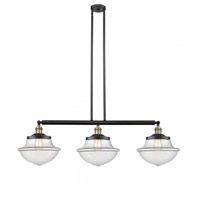 Innovations Lighting 213-BAB-S-G542 Large Oxford 3 Light 42 inch Black Antique Brass Island Light Ceiling Light Franklin Restoration